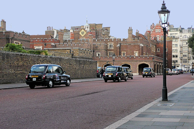 court yards and state rooms at st james's palace london